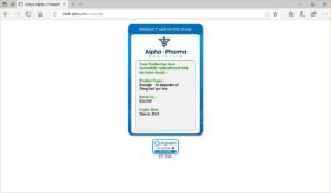 Alpha Pharma Rexogin authentication page